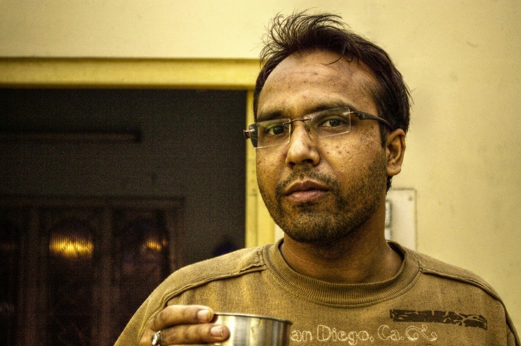 Drinking Tea by Sudipto Sarkar on Visioplanet