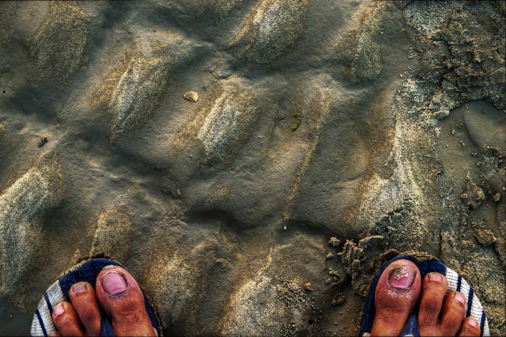 Sand and Slippers by Sudipto Sarkar on Visioplanet