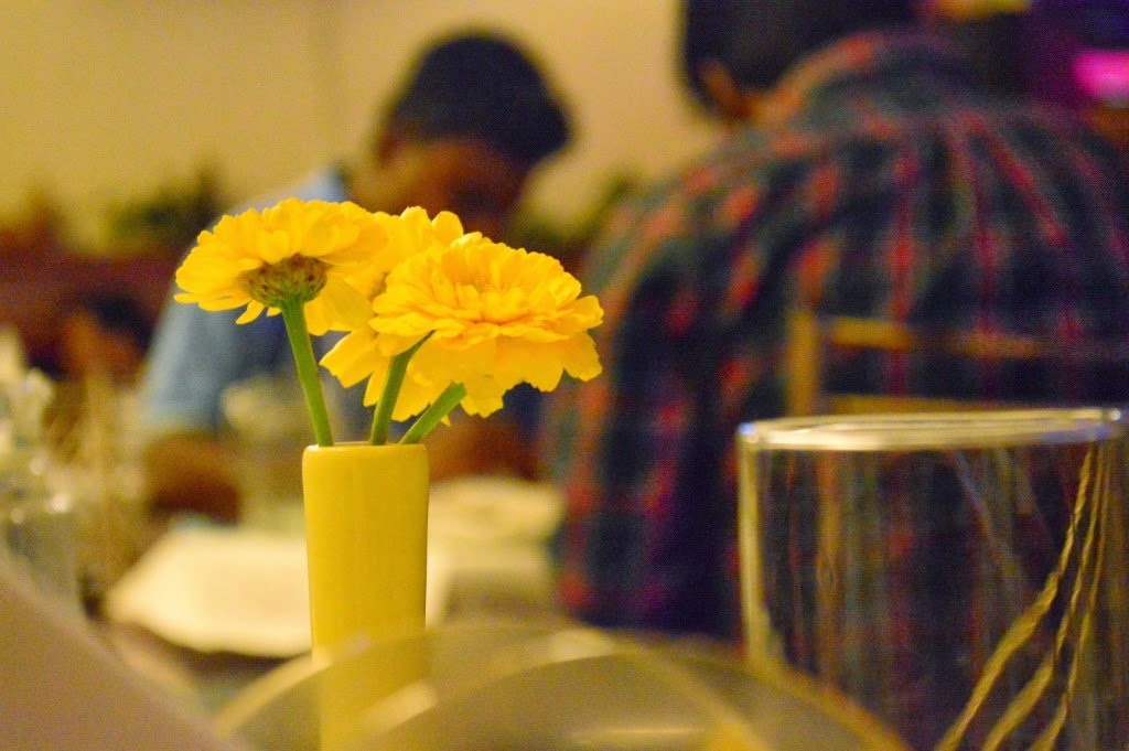 Flowers In A Restaurant by Sudipto Sarkar on Visioplanet
